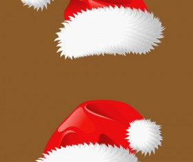 Different Christmas hat design elements vector set 05