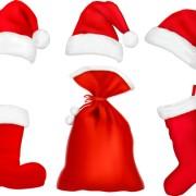 Link toDifferent christmas hat design elements vector set 08