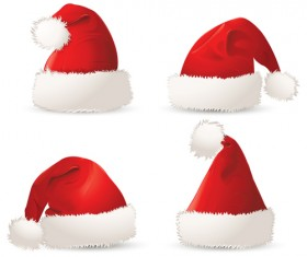 Different Christmas hat design elements vector set 09