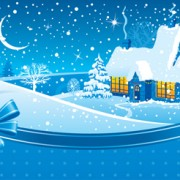 Link toSet of christmas night landscapes elements vector 03