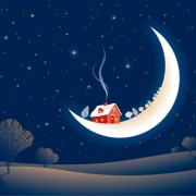 Link toSet of christmas night landscapes elements vector 05