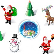 Link toDifferent christmas ornaments illustration vector material 01