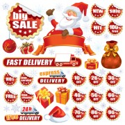 Link toChristmas sale tags and stickers design vector 05