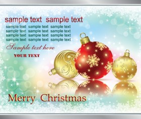 Set of Christmas theme cards elements vector material 01