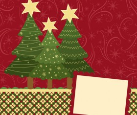 Set of Christmas theme cards elements vector material 04