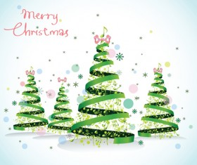 Set of Christmas theme cards elements vector material 05