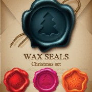 Link toChristmas wax seals design elements vector set 02