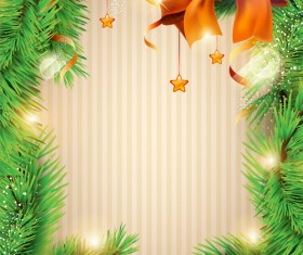 Christmas decor background art vector material 01
