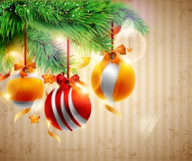 Christmas decor background art vector material 02