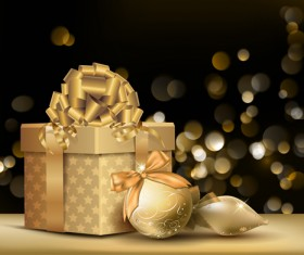 Set of Exquisite Christmas background art vector 05