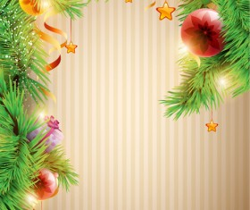 Christmas decor background art vector material 05