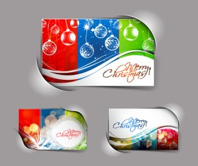 Elements of Abstract Christmas cards design vector 01