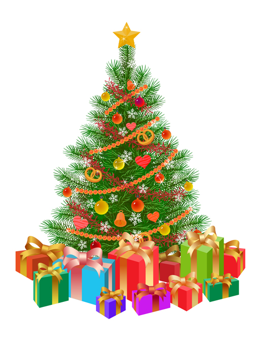 Christmas Tree Collection Leichhardt : Exquisite christmas elements collection vector