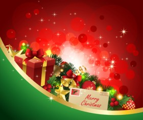 Different Christmas gifts box design elements vector 04