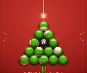 offbeat Christmas tree design elements vector 03