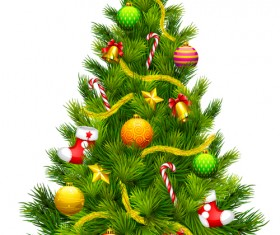 Various Christmas tree elements vector graphics set 01