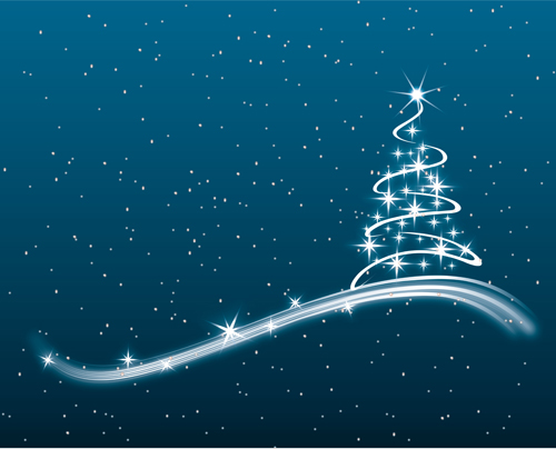 creative abstract christmas tree design vector set 02 free download
