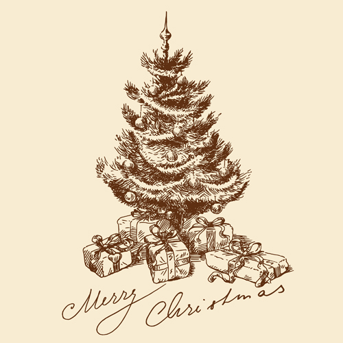 Special Christmas tree design elements vector 02