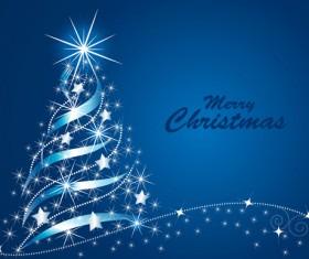 Sparkling Christmas tree design vector 04