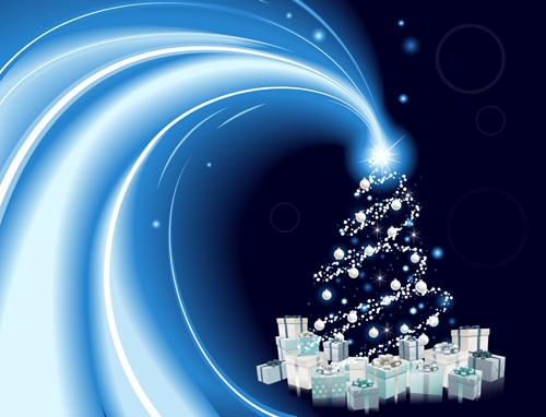 Creative Abstract Christmas tree design vector set 04 - Vector ...