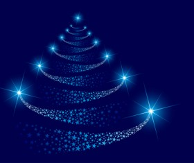 Sparkling Christmas tree design vector 05