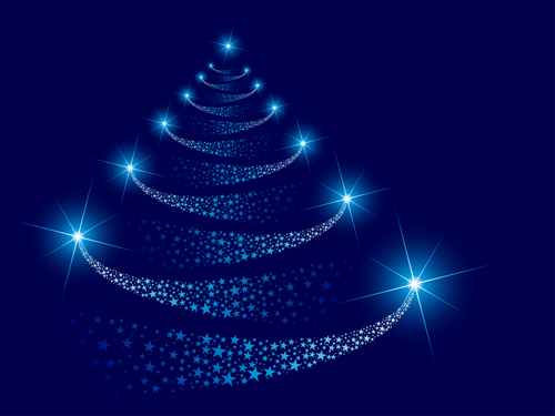 Sparkling Christmas tree design vector 05