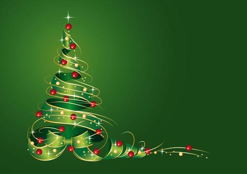 Creative Abstract Christmas tree design vector set 05 - Vector ...