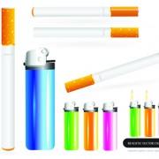 Link toDifferent cigarettes elements vector set 05