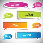Link toSet of label cloud for text stickers vector 02