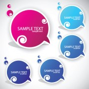 Link toSet of label cloud for text stickers vector 04