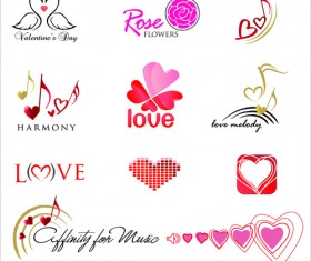 Commonly Logos design vector set 01