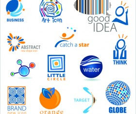 Commonly Logos design vector set 03