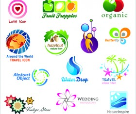 Commonly Logos design vector set 04