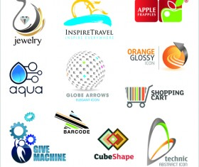 Commonly Logos design vector set 05