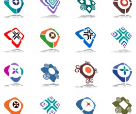 Commonly Logos design vector set 07