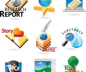 Commonly Logos design vector set 08