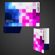 Link toVector template of corporate folder with die cut set 02