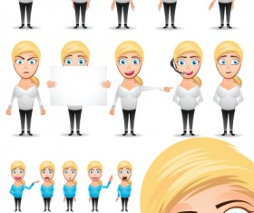 Different industries Cute figures people vector material 03
