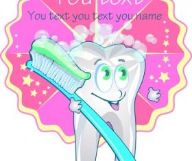 Set of Dental design elements vector clipart 04