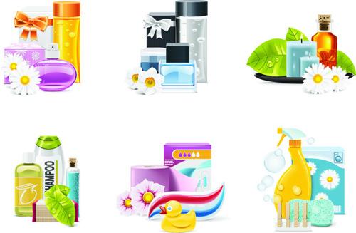 Elements of Spa Salon Design vector graphics 04