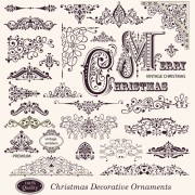 Link toDifferent christmas decorative ornaments and labels vector 01