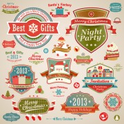 Link toDifferent christmas decorative ornaments and labels vector 03