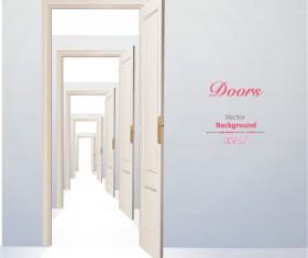 Elements of Door model backgrounds art vector 02