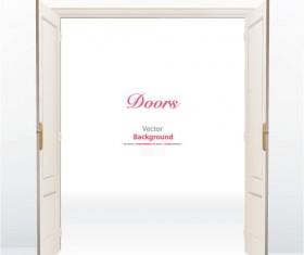 Elements of Door model backgrounds art vector 05