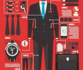 Set of Economy elements infographics design vector 02