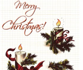 Elements of Vintage Christmas design vector graphics 03