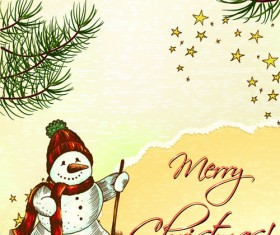 Elements of Vintage Christmas design vector graphics 04