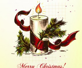 Elements of Vintage Christmas design vector graphics 05