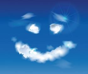 Shiny Figure cloud vector backgrounds 01