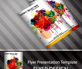 Set of Flyer presentation template design vector 04